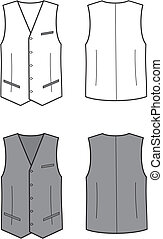 Business waistcoat - Vector illustration of mens business...