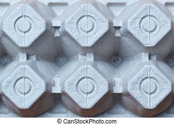 Egg carton pattern - Egg carton bottom showing pattern of...