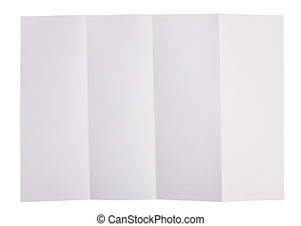 White paper folded in four