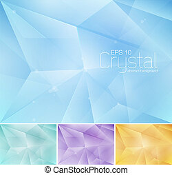Crystal abstract background series. File format EPS 10