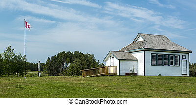 Old School House - An old vintage school house with a...