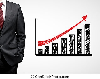 man and growth chart