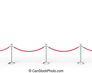 stanchions barrier isolated on white