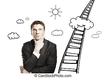 man and a stairway