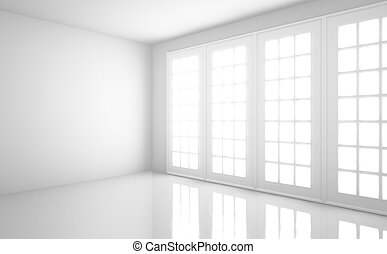 white room - empty  light white room with window