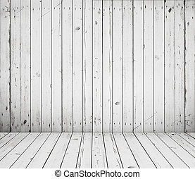 vintage wooden room - High resolution white wooden room
