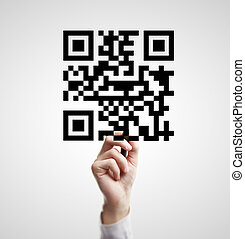 drawing qr code - High resolution hand drawing qr code