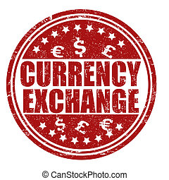 Currency exchange stamp - Currency exchange grunge rubber...