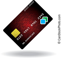 Pattern of credit card - Variant of credit or debit card....