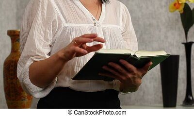 Woman with the Bible - Woman read and discuss with the Bible...