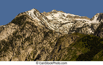 Wasatch - Peaks of the Wasatch Mountains, east of Salt Lake...