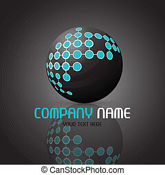 Abstract sphere logo - Abstract logo with a sphere design