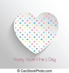 Polka dot heart