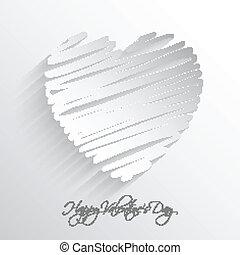 Scribble heart background