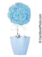 Artificial flower in a pot