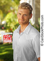 Young man in real estate