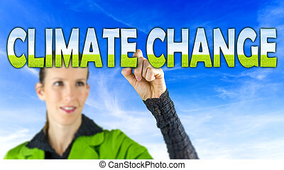 Climate Change - Fresh conceptual image depicting Climate...