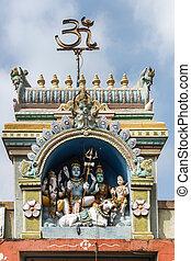 Shiva family statue at Sri Naheshwara in Bengaluru. - Lord...
