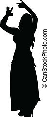 belly dancer silhouette vector