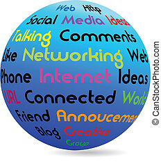 Network business globe vector