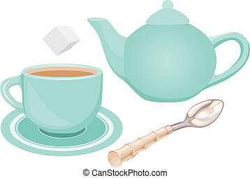 Tea set - Scalable vectorial image representing a tea set...