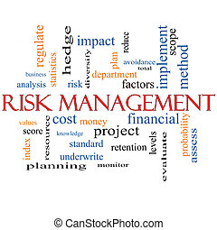 Risk Management Word Cloud Concept with great terms such as...