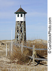 Old OBX Life Saving Station - View of a rustic old life...