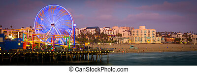 Santa Monica Pier - Ferris wheel on Santa Monica Pier, Santa...