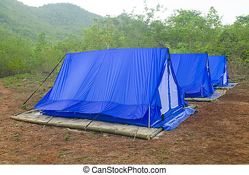 tent Camping site with nature