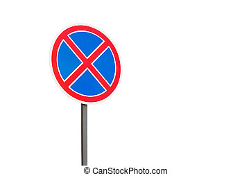 Road sign parking stop