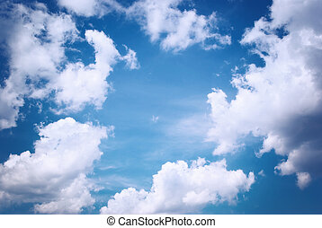 Deep blue sky Nature composition