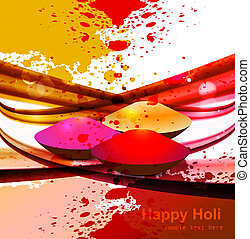 abstract gulal background for holi colorful wave festival...