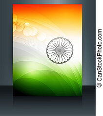 Indian flag presentation template republic day beautiful...