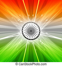 Stylish indian flag republic day creative swirl tricolor wave background vector