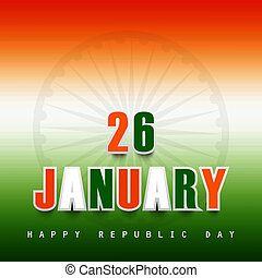 republic day stylish indian flag tricolor vector design