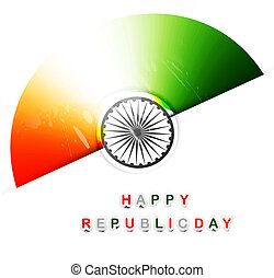vector indian flag tricolor stylish design