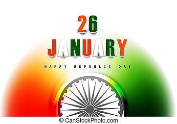 Beautiful republic day stylish indian flag tricolor design vector