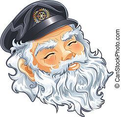 Captain - Portrait of old nice Captain