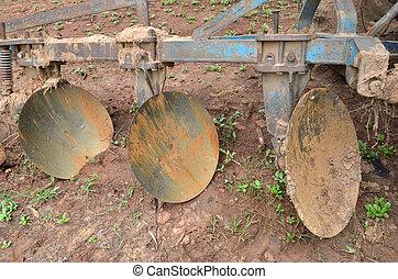 Vintage farming equipment