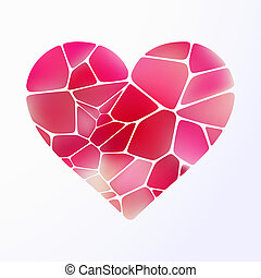 Red heart on light purple. EPS 10 - Red heart on light...