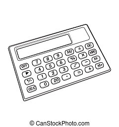 calculator out line vector - image of calculator vector...