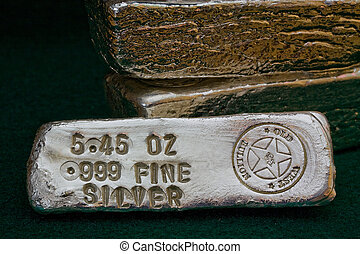 Stamped Silver Bullion Bars