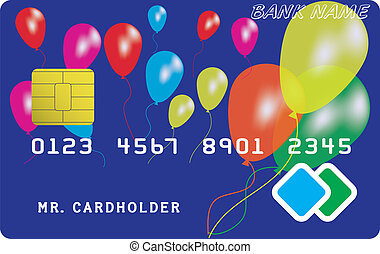 Variant of credit or debit card Vector illustration