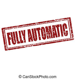 Fully Automatic-stamp - Grunge rubber stamp with text Fully...