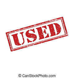 Used-stamp - Grunge rubber stamp with word Used,vector...