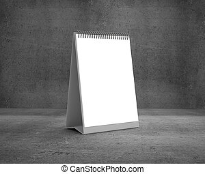 blank calendar on a concrete background