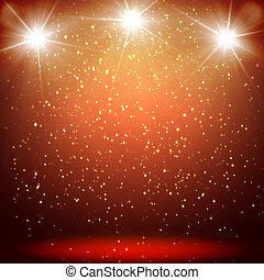 great christmas background with shining stars and rays