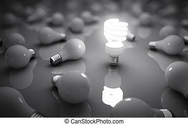 lâmpadas, cinzento