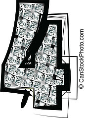 Diamond Font Number 4