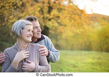 Active seniors - Close up of active seniors relaxing in...